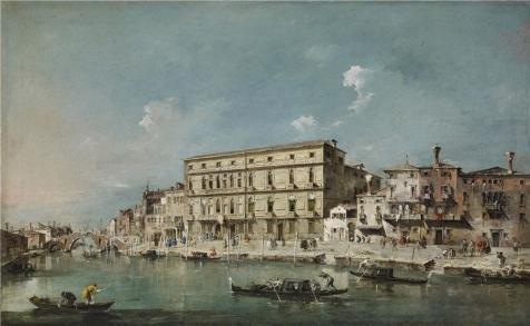 Oil painting `フランチェスコGuardi–ヴェネツィアのビュー、18世紀`印刷on Perfect effectキャンバス、10x 16インチ/ 25x 41cm、最高のリビングルームギャラリーアートとホーム装飾とギフトはこの最高価格アート装飾プリントキャンバスの商品画像