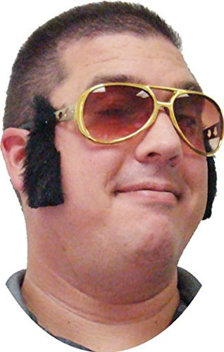 Rock Legend Glasses w/ Sideburns (Quality Elvis High Sunglasses)