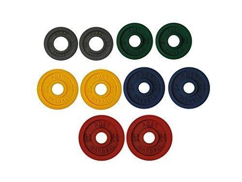 (Ader Precision Color Metal Olympic Kilo Gram Plates (5 Pr Color 15KG))