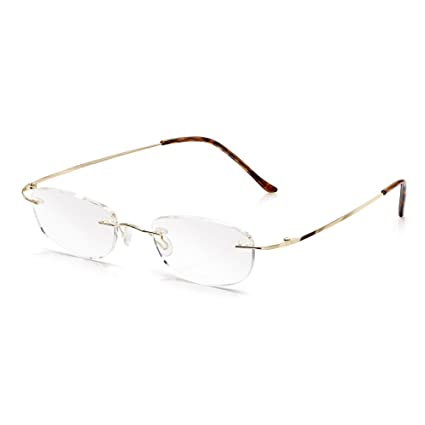 e97e7cfcb2 Read Optics Gafas de lectura sin montura +1.50 - 2.50: Lector fácil de usar  liviano para hombres ...