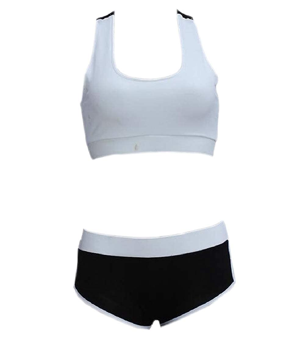 security Womens Sports Yoga Crop Tank Tops and Shorts 2 Piece Set