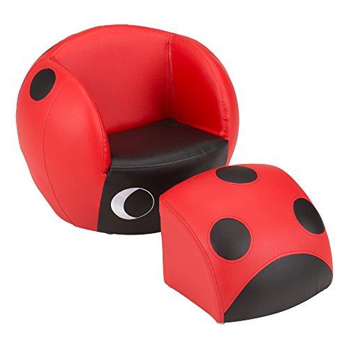 Fat Catalog Kids Labybug Chair w/Stool, -