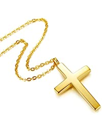 Jewelry Mens Womens Stainless Steel Cross Pendant Necklace Twist Rope Chain, 20-22 Inch