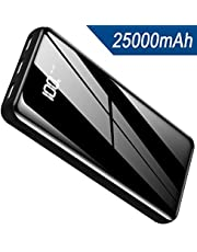 Portable Charger Power Bank 25000mAh,High Capacity with LCD Digital Display,3 USB Output & Dual Input External Battery Pack Compatible with Smart Phones,Android Phone,Tablet and More