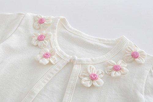 CHENXIN Girls Knit White Short Sleeve Bolero Cardigan Shrug (White1, 150/7-8T) by CHENXIN (Image #3)