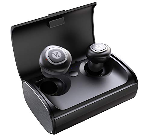 True Wireless Bluetooth Earbuds, Bluetooth 5.0 in-Ear Headphones with Charging Case, TWS Stereo Earphones Deep Bass Sound, IPX5 Waterproof, Built-in Mic, Clear Call, Secure Fit for Sports A12