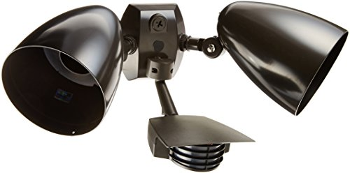 (RAB Lighting STL200HB Stealth 200 Sensor with Twin Precision Die Cast HB101 Bullet Floods, Aluminum, 200 Degrees View Detection, 1000W Power, 120V, Bronze Color)