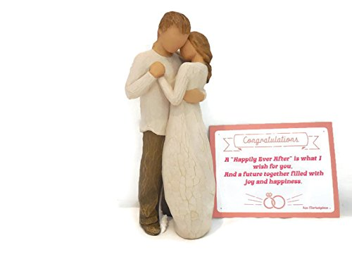 - Willow Tree Promise Statue Figurines - Best Wedding Gifts for Bride and Groom, Bridal Shower Gifts