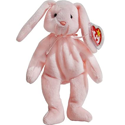 46c9335afd1 Image Unavailable. Image not available for. Color  Hoppity the Pink Bunny  Rabbit - MWMT Ty Beanie Babies