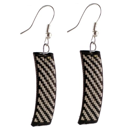 Fair Trade Amazon Jungle Palm Leaf Earrings Sets Two Pair Pack Woven Leaf Ring