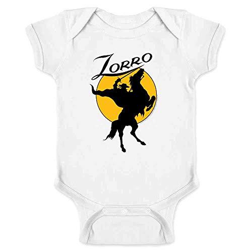 Pop Threads Zorro Moon Logo Halloween Costume Retro White 18M Infant Bodysuit