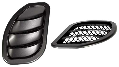 - Daystar, Jeep XJ Cherokee Side Hood Vent Kit, reduce under hood temperature, black pair, fits MJ Comanche 1986 to 1992 and XJ Cherokee 1984 to 2001 2/4WD, KJ71052BK, Made in America