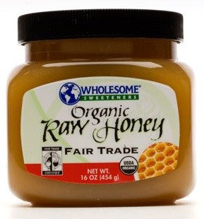 WHOLESOME SWEETENERS Honey FRTRD Raw Organic, 16 Ounce