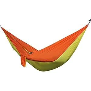 Hamaca portátil para el aire libre, 2 personas, para camping, senderismo, viajes, jardín, ocio, hamaca, paracaídas, hamacas