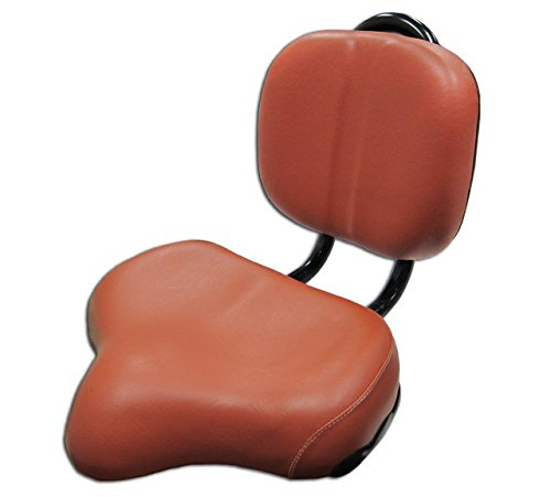 Flying Horse Luxury Bicycle Seat with Back Rest - Motorized Bicycle Saddle (Brown)