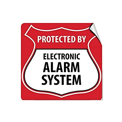 Amazon.com: Protected by Electronic Alarm System Style 1 ...