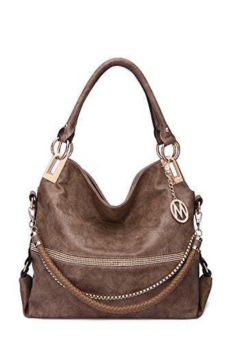 2 IN 1 Women's Twister Large New Designer Handbags Crossbody Shoulder Bag (Khaki-Twister)
