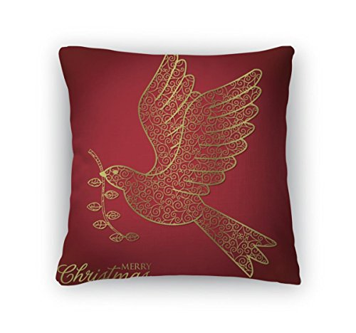 Christmas Cards Filigree (Gear New Throw Pillow Accent Decor, Filigree Christmas Card, 20