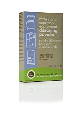 Full Circle Coffee and Espresso Machine Descaling Powder, 2 Single Use Packets made by Urnex/Full Circle Co