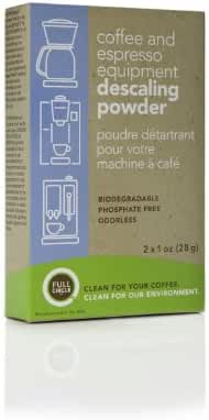 Full Circle Coffee and Espresso Machine Descaling Powder, 2 Single Use Packets