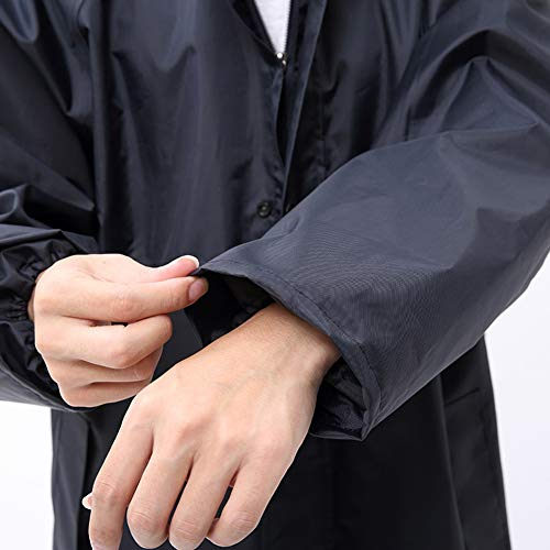 Adulto Mantella Set colore Dimensioni Per Adulti Rain Pongee Impermeabile Antipioggia Da Black Uomo Lungo Tuta Trekking L Zhangqiang Pongee CvqF1c
