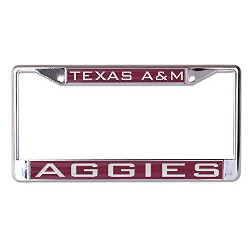 - WinCraft NCAA Texas A&M Aggies Inlaid Metal License Plate Frame, 2-Tag Corners