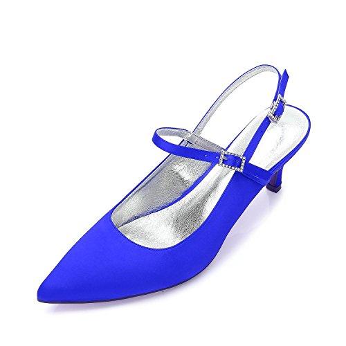 Blue Zapatos Banquete Y99634 Low La Del 10 Las Tacones Boda Proms Abierta Mujeres Altos Corte Plataforma Stiletto Kitten Mid yc Punta L De WBRaqR