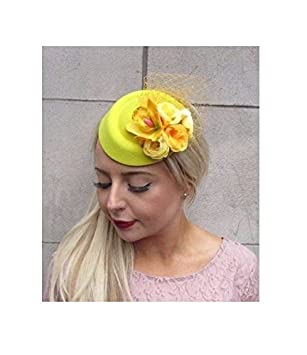 707487f5387 Starcrossed Boutique Yellow Rose Flower Pillbox Hat Fascinator Hair Clip  Races Wedding Vintage 4102