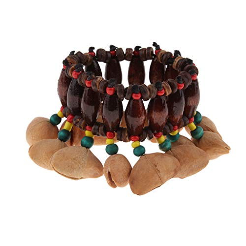 (SM SunniMix African Tribal Style Nuts Handbell Wonderful for Drum Percussion Play)