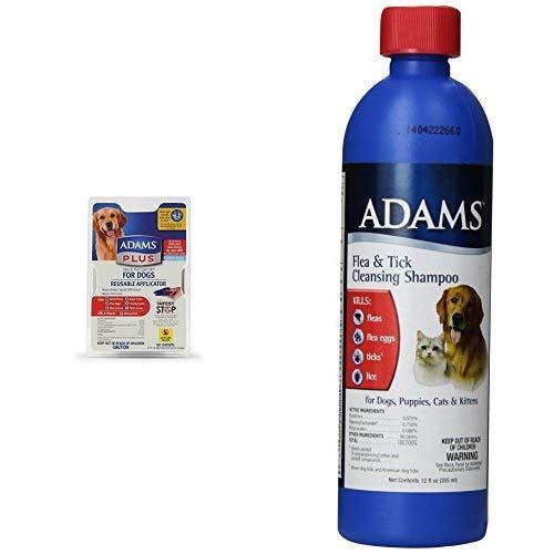 Adams Flea & Tick Spot On Treatment for Extra Large Dogs + Shampoo