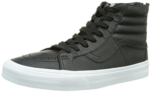 premium White Zip black Mixte Sk8 hi Reissue Sneakers Adulte true Vans Leather Noir Hautes ROHZ6qOw