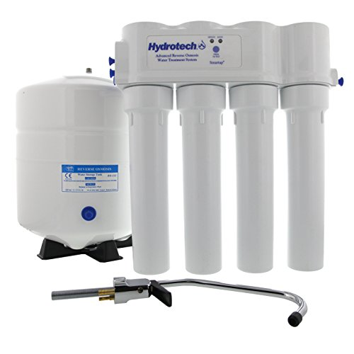 Hydrotech 4VTFC75G-PB 4 Vessel 75 GPD Reverse Osmosis System with Push Button ()