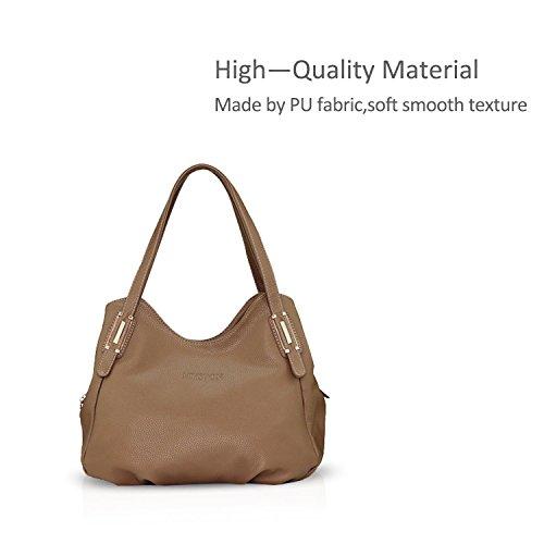 PU NICOLE Shoulder Purse Women amp;DORIS Handbags Hobo Tote Khaki Crossbody Bag Bag Satchel Leather q5rPCq