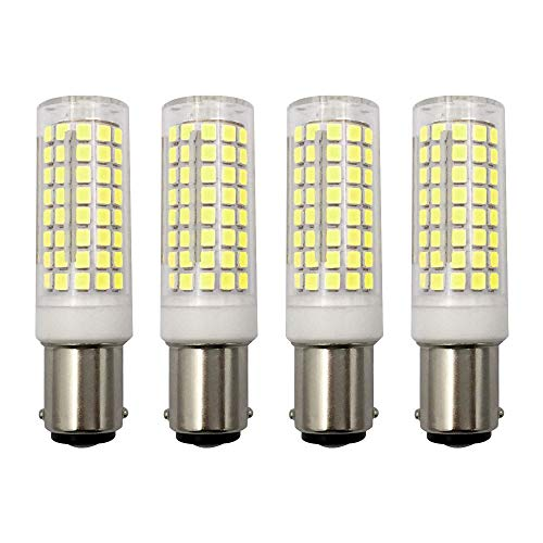 MD Lighting 10W BA15D LED Corn Light Bulbs(4 Pack)- 102 LEDs 2835 SMD 1000lm Dimmable Double Contact Bayonet Base Sewing Machine Bulb 120V Daylight White 6000K LED Corn Bulb 70W Replacement Bulb ()