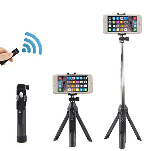 cheap Selfie Stick Bluetooth Monopod with Tripod Stand and Remote