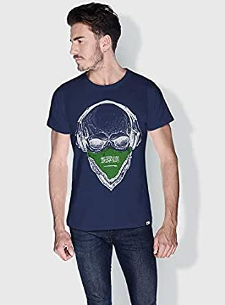 Creo Saudi Skull T-Shirts For Men - M, Blue