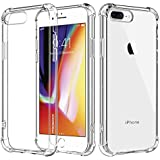 For iPhone 7 Plus Case/iPhone 8 Plus Case, MoKo Crystal Clear Reinforced Corners TPU Bumper Cushion + Hybrid Rugged Transparent Panel Cover for Apple iPhone 7 Plus / 8 Plus - Crystal Clear