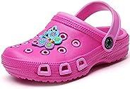 LOULAN Toddler Little Kids Clogs Slippers Cartoon Sandals Girls Boys Clogs Slide Lightweight Garden Shoes Slip