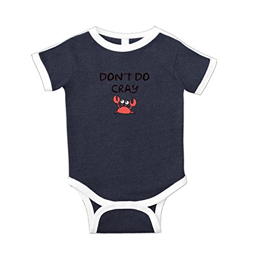 Cute Rascals Don't Be Cray Carb Cotton Short Sleeve Crewneck Unisex Baby Soccer Bodysuit Sports Jersey - Navy, 24 Months