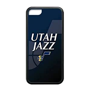 Cellphone accessories iPhone 5C TPU Case Utah Jazz background design (Laser Technology)-by Allthingsbasketball