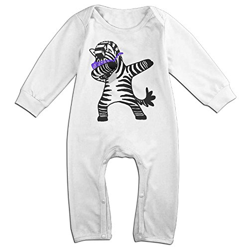 Newspaper Boy Dance Costume (NiuNiu Dab Dance Zebra Toddler Infant Baby Long Sleeve Bodysuit Baby OnesieOutfits For 0-24 Months White 24 Months)