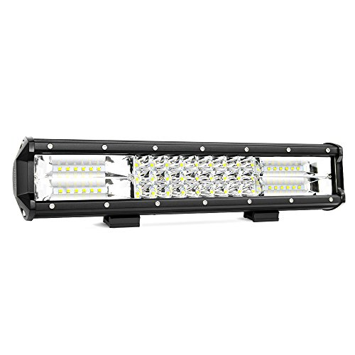 LED Light Bar Nilight 15Inch 216W Triple Row Flood Spot Combo Beam 12000LM Led Bar Driving Lights Boat Lights Super Bright Led Off Road Lights for Trucks,2 Years Warranty