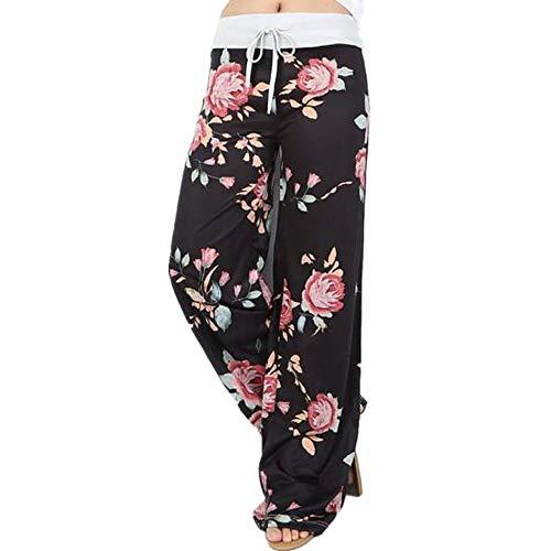 (Women Pants Neartime Print Loose Casual Pants American Flag Drawstring Wide Leggings)