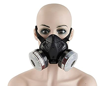 Spray Paint Mask >> Holulo Paint Spray Respirator Half Face Respirator Anti Dust Reusable Mask Organic Vapor Respiratory Protection