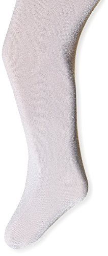 Jefferies Socks Little Girls'  Sparkly Tights, Silver, 4-6 Years