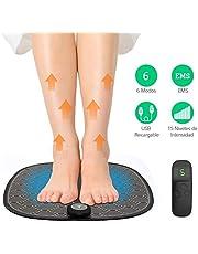 Gindoly Masajeador de Pie Plegable EMS 6 Modos 15 Niveles Intensidad Ajustable Estimulador Pie Pulsos de Baja Frecuencia con Control Remoto para Mejorar Circulación Sanguínea y Relajación del Dolor