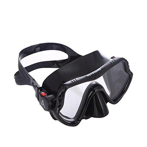 AQTECKNO One-Piece Lens Diving Mask (Black)