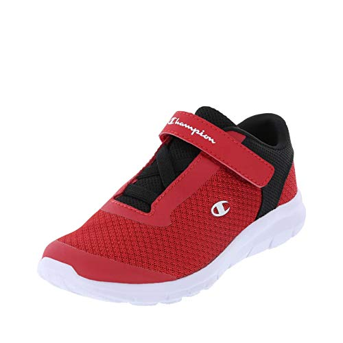 Champion Red Black White Boys' Gusto Strap Cross Trainer 5.5 Regular