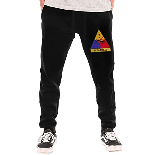(3rd Armored Division United States Men's Sweatpants Mens Fleece Pants)