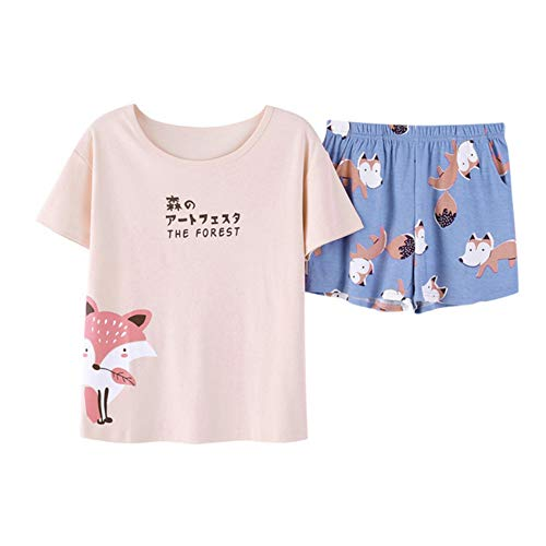 Donna Meaeo Set Photo Homewear Sleepwear Pezzi Cotone Estate In Color set Pigiama 2 xFFCrqXwnA